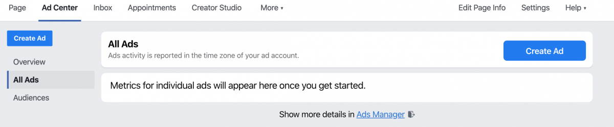 How to access ads manager
